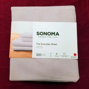Sonoma Queen Sheet Set Solid Lavender 4 Piece NEW